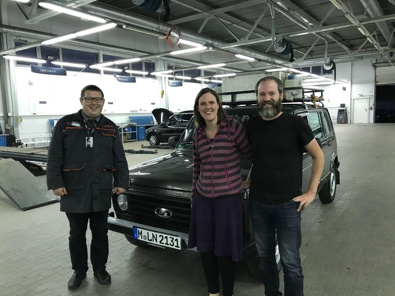 Семья из Мюнхена на Lada 4x4